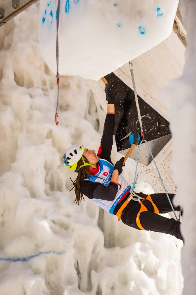 Lead Ice Climber