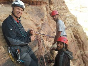 UIAA mountain training in Wadi Rum